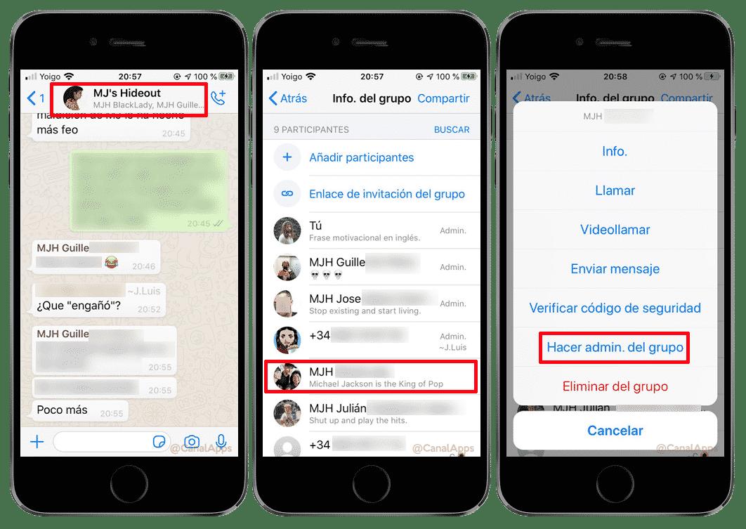 administrador grupos whatsapp