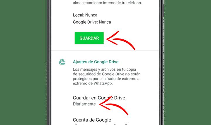 copia seguridad whatsapp android