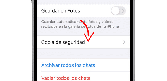 copia seguridad whatsapp iphone