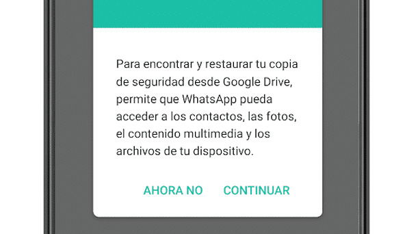 Restaurar copia de seguridad de chats de WhatsApp en Android