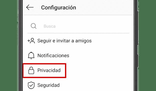 Configuración de Privacidad en Instagram