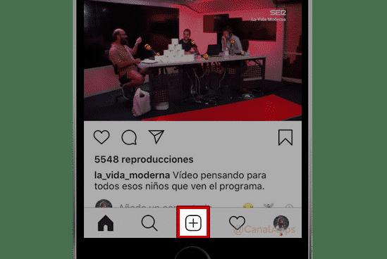 Botón de publicación en Instagram