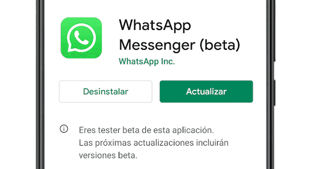 Actualizar WhatsApp a WhatsApp Beta en Android