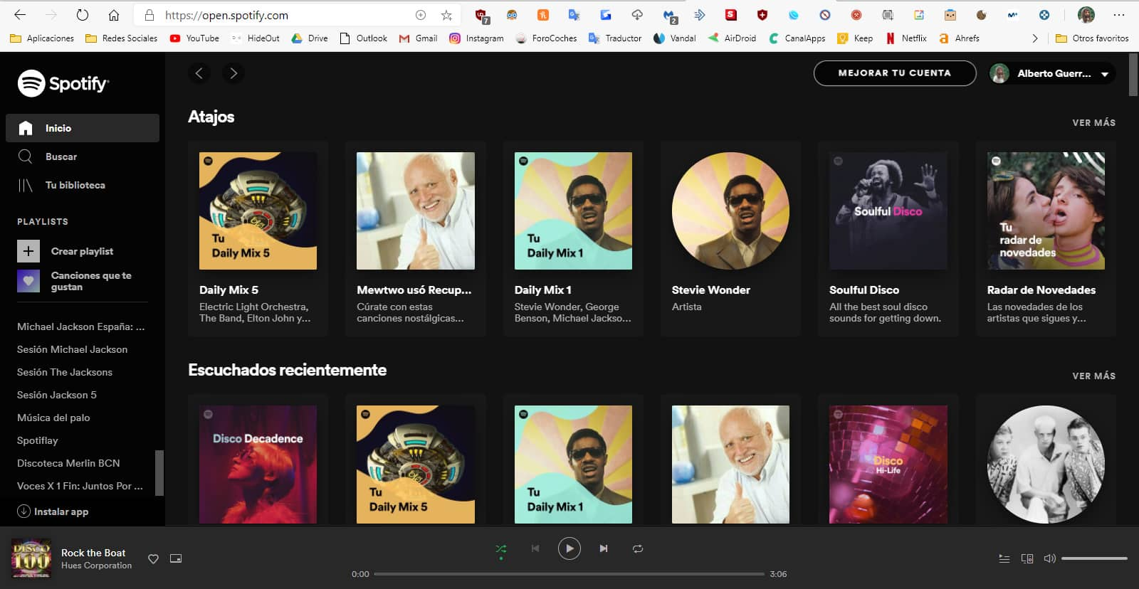 Spotify web player navegador