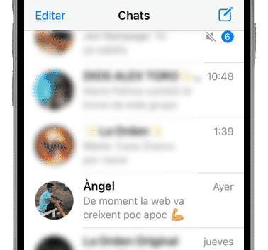 chats recientes whatsapp iphone