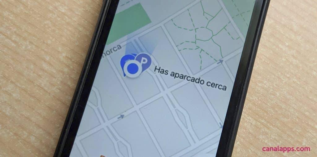 marcar parking google maps