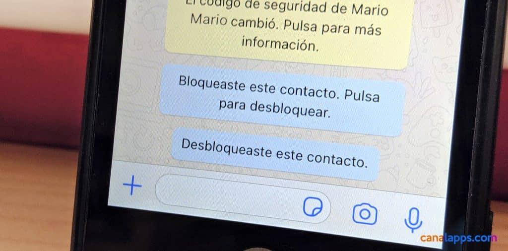 whatsapp bloquear contacto
